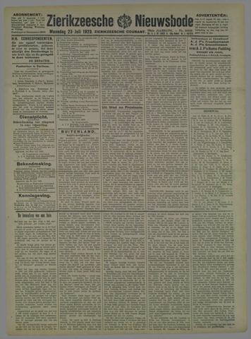Zierikzeesche Nieuwsbode 1923-07-23