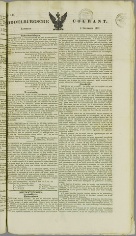 Middelburgsche Courant 1837-12-02