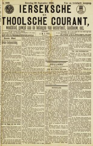 Ierseksche en Thoolsche Courant 1906-09-29