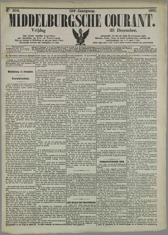 Middelburgsche Courant 1891-12-25