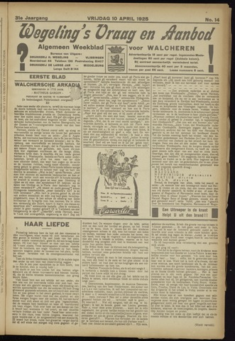 Zeeuwsch Nieuwsblad/Wegeling's Nieuwsblad 1925-04-10