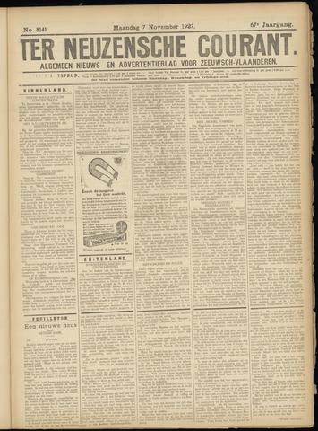 Ter Neuzensche Courant. Algemeen Nieuws- en Advertentieblad voor Zeeuwsch-Vlaanderen / Neuzensche Courant ... (idem) / (Algemeen) nieuws en advertentieblad voor Zeeuwsch-Vlaanderen 1927-11-07