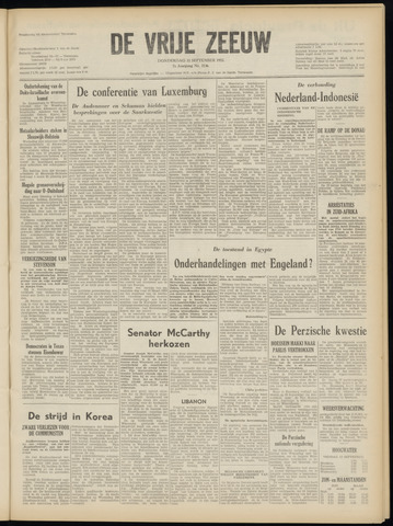 de Vrije Zeeuw 1952-09-11