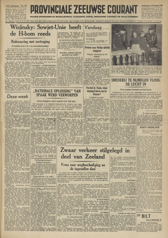 Provinciale Zeeuwse Courant 1950-02-04
