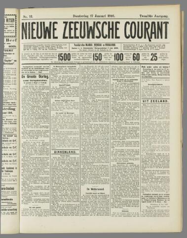 Nieuwe Zeeuwsche Courant 1916-01-27