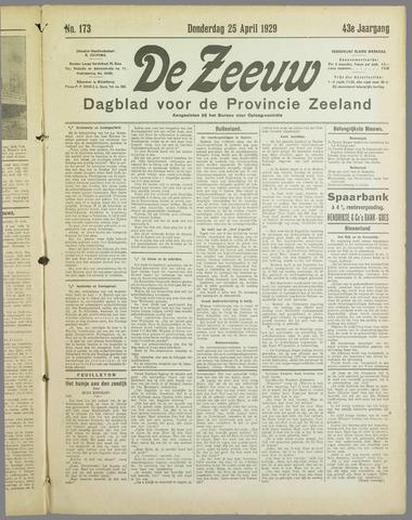 De Zeeuw. Christelijk-historisch nieuwsblad voor Zeeland 1929-04-25