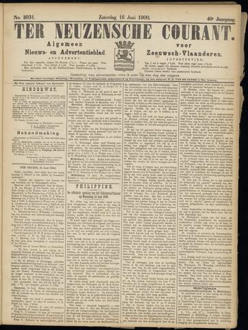 Ter Neuzensche Courant. Algemeen Nieuws- en Advertentieblad voor Zeeuwsch-Vlaanderen / Neuzensche Courant ... (idem) / (Algemeen) nieuws en advertentieblad voor Zeeuwsch-Vlaanderen 1900-06-16