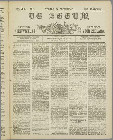 De Zeeuw. Christelijk-historisch nieuwsblad voor Zeeland 1912-09-27