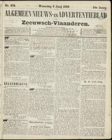 Ter Neuzensche Courant. Algemeen Nieuws- en Advertentieblad voor Zeeuwsch-Vlaanderen / Neuzensche Courant ... (idem) / (Algemeen) nieuws en advertentieblad voor Zeeuwsch-Vlaanderen 1869-06-02