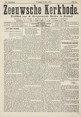 Zeeuwsche kerkbode, weekblad gewijd aan de belangen der gereformeerde kerken/ Zeeuwsch kerkblad 1917-05-18