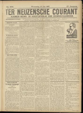 Ter Neuzensche Courant. Algemeen Nieuws- en Advertentieblad voor Zeeuwsch-Vlaanderen / Neuzensche Courant ... (idem) / (Algemeen) nieuws en advertentieblad voor Zeeuwsch-Vlaanderen 1927-07-20