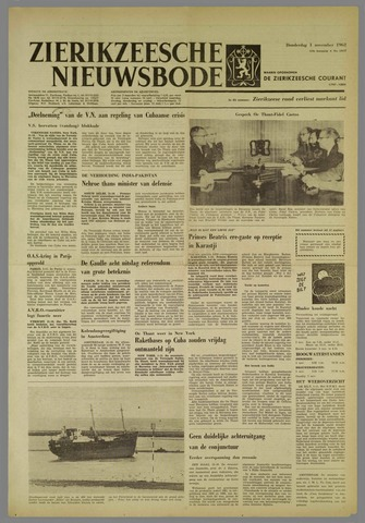 Zierikzeesche Nieuwsbode 1962-11-01