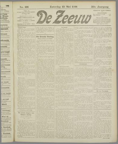 De Zeeuw. Christelijk-historisch nieuwsblad voor Zeeland 1916-05-13