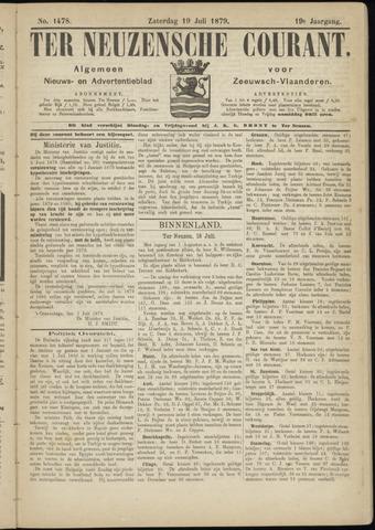 Ter Neuzensche Courant. Algemeen Nieuws- en Advertentieblad voor Zeeuwsch-Vlaanderen / Neuzensche Courant ... (idem) / (Algemeen) nieuws en advertentieblad voor Zeeuwsch-Vlaanderen 1879-07-19