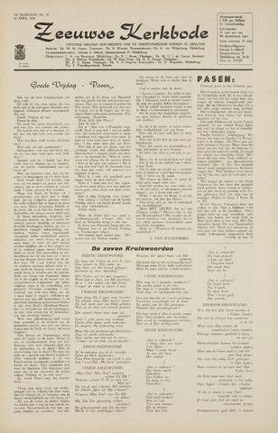Zeeuwsche kerkbode, weekblad gewijd aan de belangen der gereformeerde kerken/ Zeeuwsch kerkblad 1965-04-16