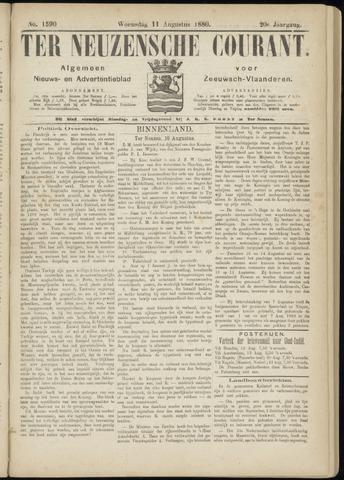 Ter Neuzensche Courant. Algemeen Nieuws- en Advertentieblad voor Zeeuwsch-Vlaanderen / Neuzensche Courant ... (idem) / (Algemeen) nieuws en advertentieblad voor Zeeuwsch-Vlaanderen 1880-08-11