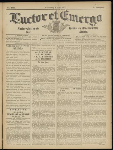 Luctor et Emergo. Antirevolutionair nieuws- en advertentieblad voor Zeeland / Zeeuwsch-Vlaanderen. Orgaan ter verspreiding van de christelijke beginselen in Zeeuwsch-Vlaanderen 1913-06-04