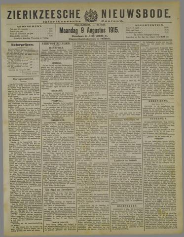 Zierikzeesche Nieuwsbode 1915-08-09