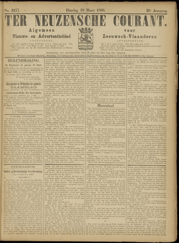 Ter Neuzensche Courant. Algemeen Nieuws- en Advertentieblad voor Zeeuwsch-Vlaanderen / Neuzensche Courant ... (idem) / (Algemeen) nieuws en advertentieblad voor Zeeuwsch-Vlaanderen 1896-03-10