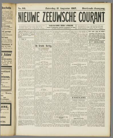 Nieuwe Zeeuwsche Courant 1917-08-11