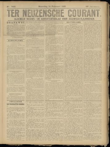 Ter Neuzensche Courant. Algemeen Nieuws- en Advertentieblad voor Zeeuwsch-Vlaanderen / Neuzensche Courant ... (idem) / (Algemeen) nieuws en advertentieblad voor Zeeuwsch-Vlaanderen 1923-02-26