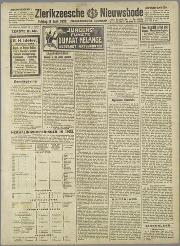 Zierikzeesche Nieuwsbode 1922-06-09