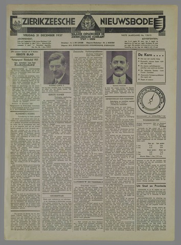Zierikzeesche Nieuwsbode 1937-12-31