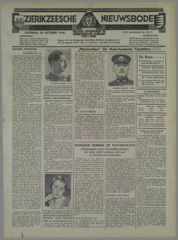 Zierikzeesche Nieuwsbode 1940-10-26