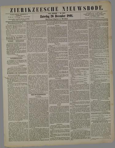 Zierikzeesche Nieuwsbode 1891-12-26