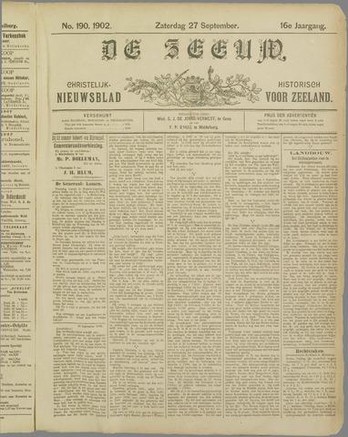 De Zeeuw. Christelijk-historisch nieuwsblad voor Zeeland 1902-09-27