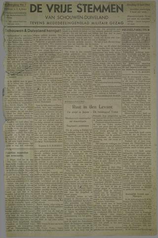 Vrije Stemmen van Schouwen-Duiveland, tevens mededeelingenblad Militair Gezag 1945-06-12