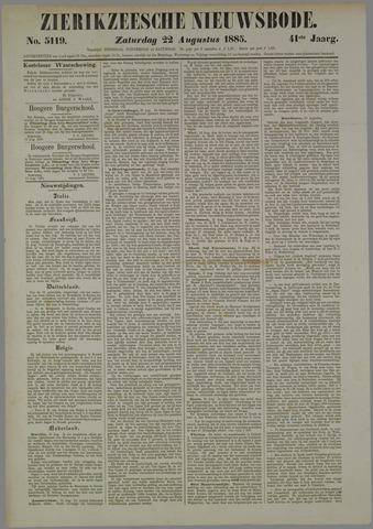Zierikzeesche Nieuwsbode 1885-08-22