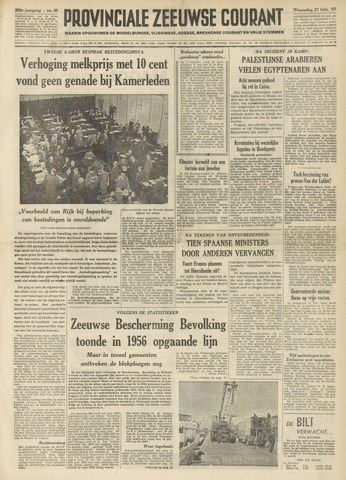 Provinciale Zeeuwse Courant 1957-02-27