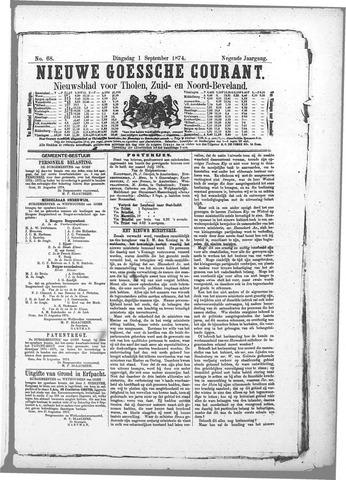 Nieuwe Goessche Courant 1874-09-01