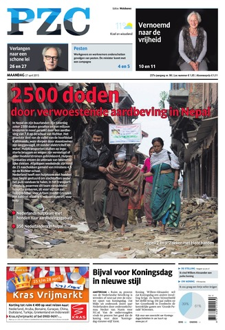 Provinciale Zeeuwse Courant 2015-04-27
