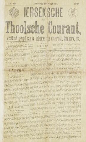Ierseksche en Thoolsche Courant 1889-08-10
