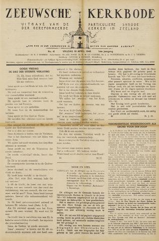 Zeeuwsche kerkbode, weekblad gewijd aan de belangen der gereformeerde kerken/ Zeeuwsch kerkblad 1946-04-19