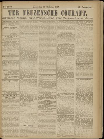Ter Neuzensche Courant. Algemeen Nieuws- en Advertentieblad voor Zeeuwsch-Vlaanderen / Neuzensche Courant ... (idem) / (Algemeen) nieuws en advertentieblad voor Zeeuwsch-Vlaanderen 1917-10-20