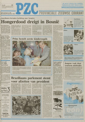 Provinciale Zeeuwse Courant 1992-09-30