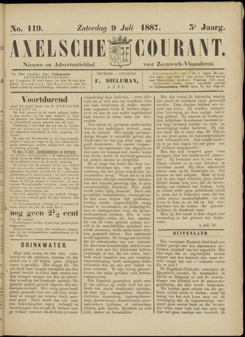 Axelsche Courant 1887-07-09