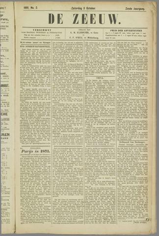 De Zeeuw. Christelijk-historisch nieuwsblad voor Zeeland 1891-10-03