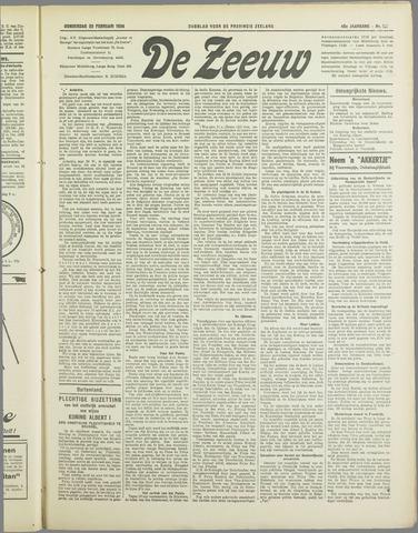De Zeeuw. Christelijk-historisch nieuwsblad voor Zeeland 1934-02-22
