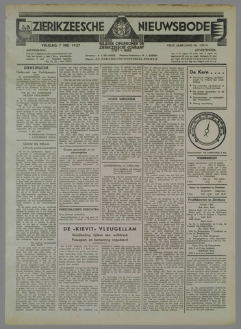 Zierikzeesche Nieuwsbode 1937-05-07