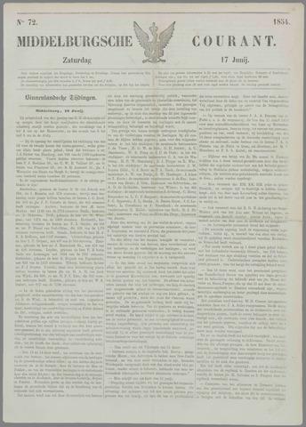 Middelburgsche Courant 1854-06-17