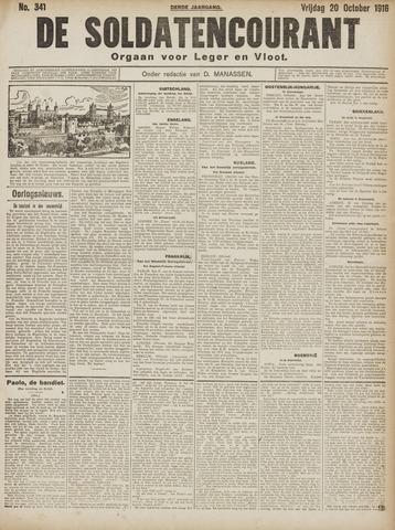 De Soldatencourant. Orgaan voor Leger en Vloot 1916-10-20