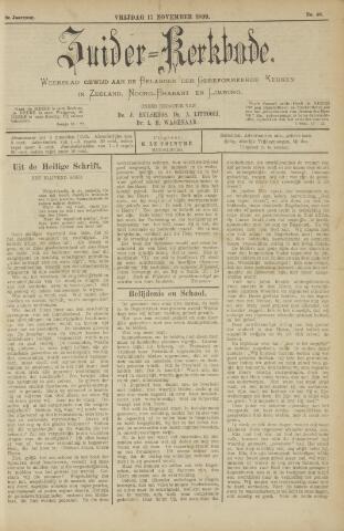 Zuider Kerkbode, Weekblad gewijd aan de belangen der gereformeerde kerken in Zeeland, Noord-Brabant en Limburg. 1899-11-17
