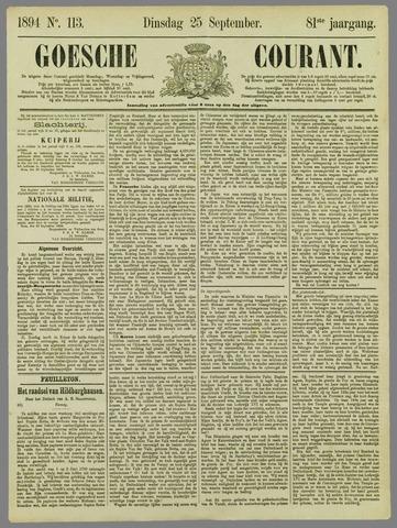 Goessche Courant 1894-09-25