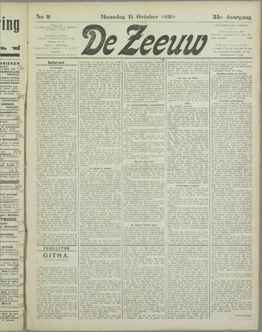 De Zeeuw. Christelijk-historisch nieuwsblad voor Zeeland 1920-10-11