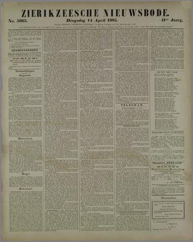 Zierikzeesche Nieuwsbode 1885-04-14