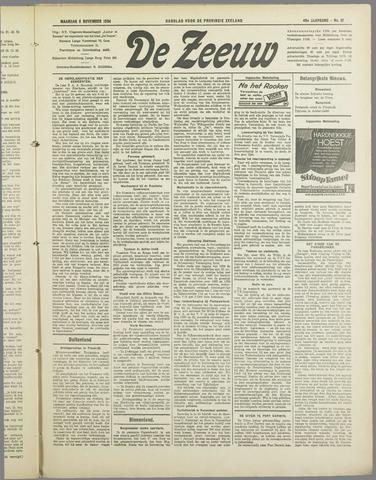 De Zeeuw. Christelijk-historisch nieuwsblad voor Zeeland 1934-11-05